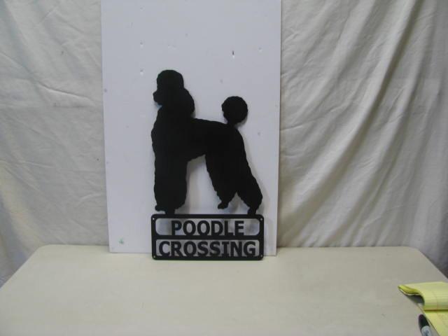 Poodle 11 Custom Metal Dog Yard Art Silhouette