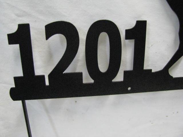 Quail Address Signs Custom Metal Yard Art Wildlife Silhouette