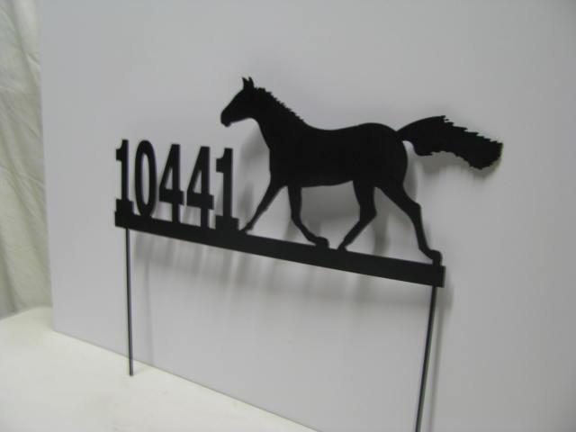 Metal Custom Horse Address Sign Yard Art