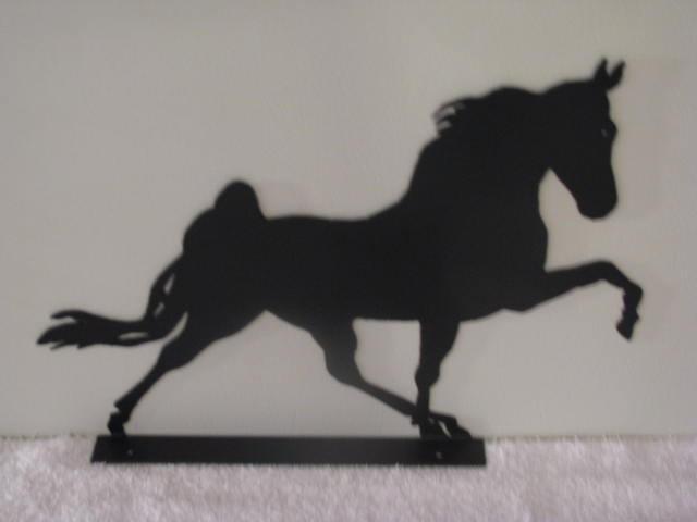 Walking Horse L Mailbox Topper Metal Farm Yard Art Silhouette