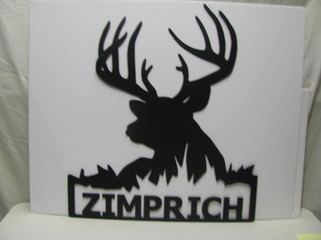 Buck 12 with Name Metal Wildlife Wall Art Silhouette