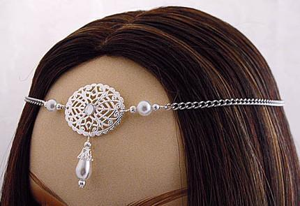 ITEM 1420 Pearl Elvish Medieval CIRCLET crown