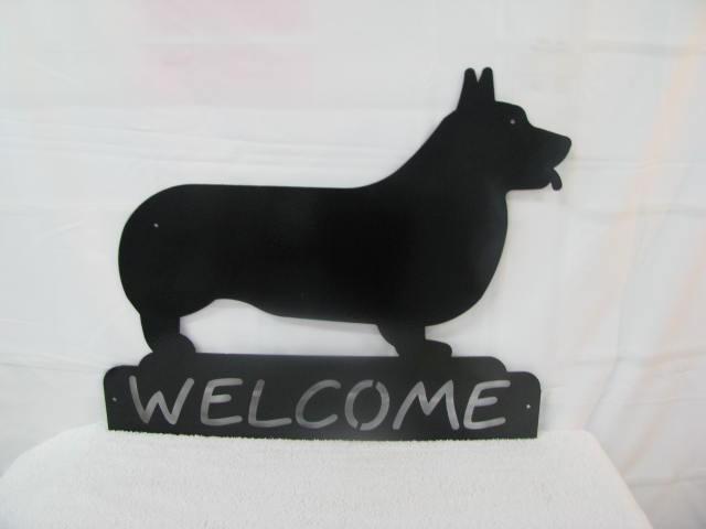 Corgi Welcome Large Metal Dog  Wall Yard  Art Silhouette