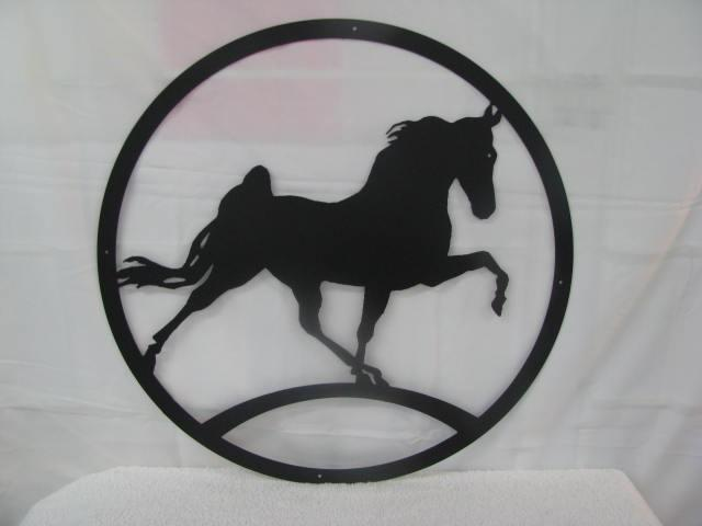 Walking Horse Silhouette Metal Farm Wall Yard Art