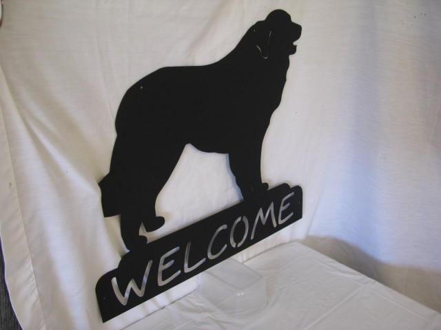 Great Pyrenees Welcome Metal Dog Wall Yard Art Silhouette