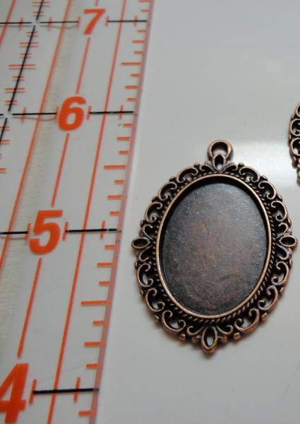 Cameo Setting Charm - Copper