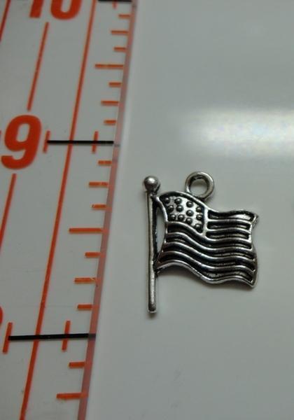 Flag Charm - Silver