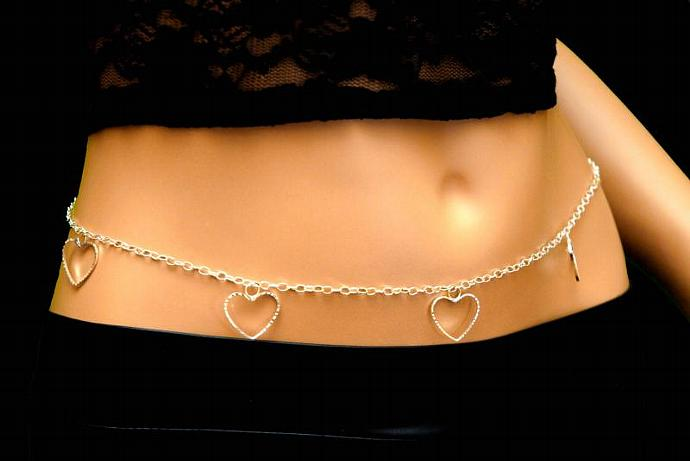 Open Hearts Belly Chain from our Timeless Hearts Collection