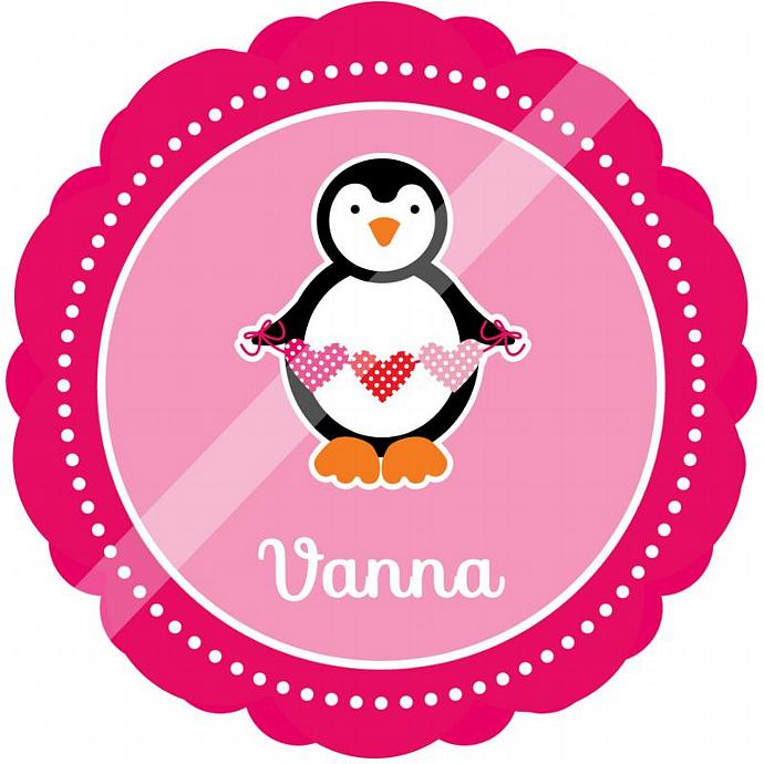 Personalized Iron-On Transfer for Kid's T-shirts. Digital Image. Vanna Hearts