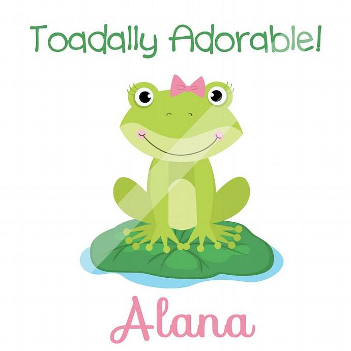 Personalized Iron-On Transfer for Kid's T-shirts. Digital Image. Alana Toadally