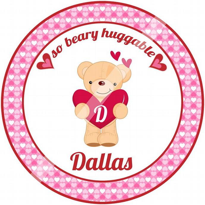 Personalized Iron On Transfer for Kid's T shirts. Digital Image. Dallas So Beary