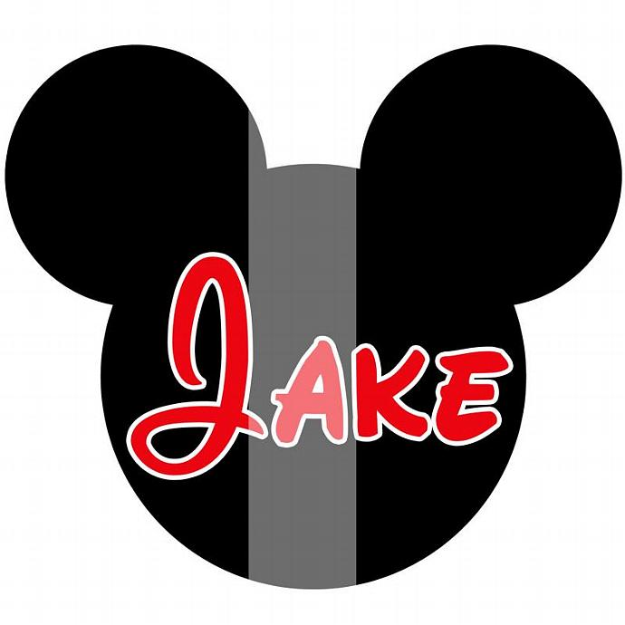 Personalized Iron-On Transfer. Digital Image. Mickey Mouse with Name.