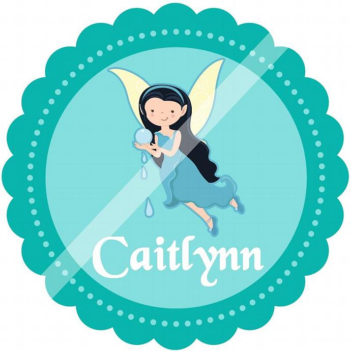 Personalized Iron-On Transfer for Kid's T-shirts. Digital Image. Caitlyn Water