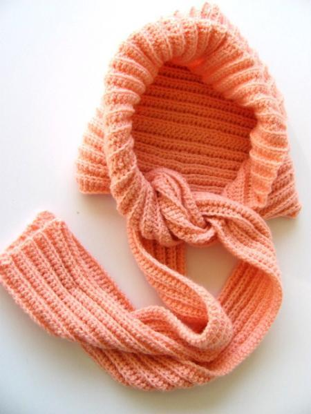 Coral Hooded Scarf-A Scoodie FREE US Shipping