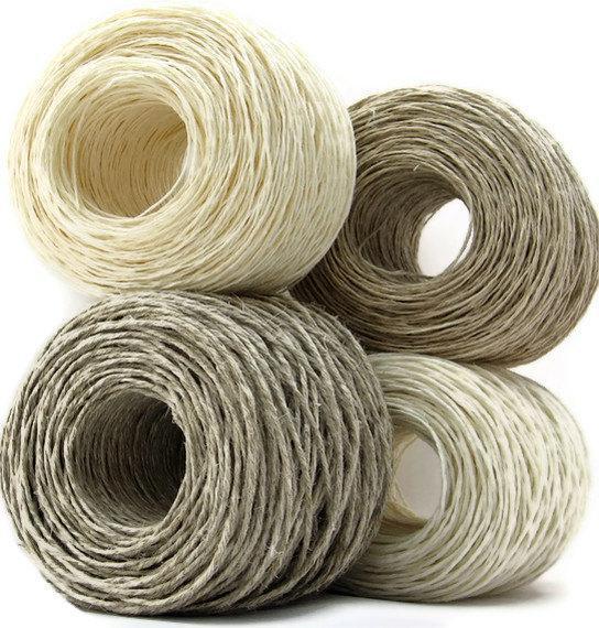 Premium Hemp Yarn for Knitting Crocheting Weaving Crafts , DK Weight, Eco