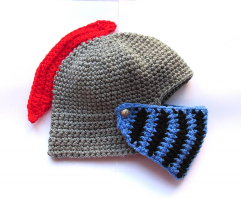 Knight Helmet Red Blue Soccer Fan Knight Helmet By Ateszter On Zibbet