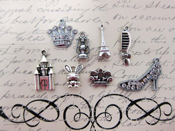 Little Princess Charm Set - 8pc Silver