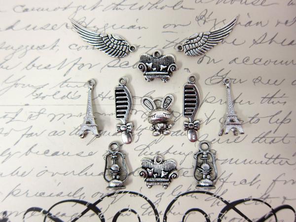 Paris Charm Set - 11pc Silver stl