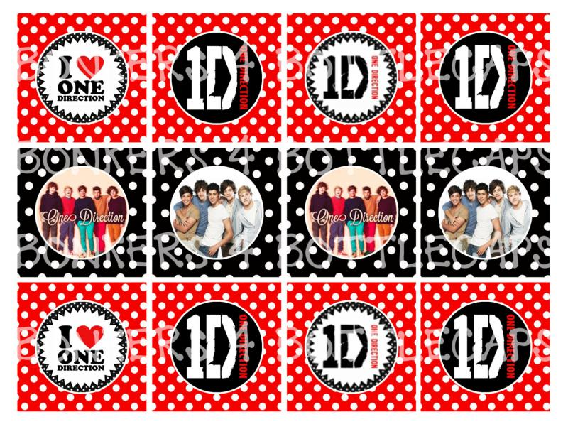 Printable One Direction Inspired By Bonkers4bottlecaps On Zibbet