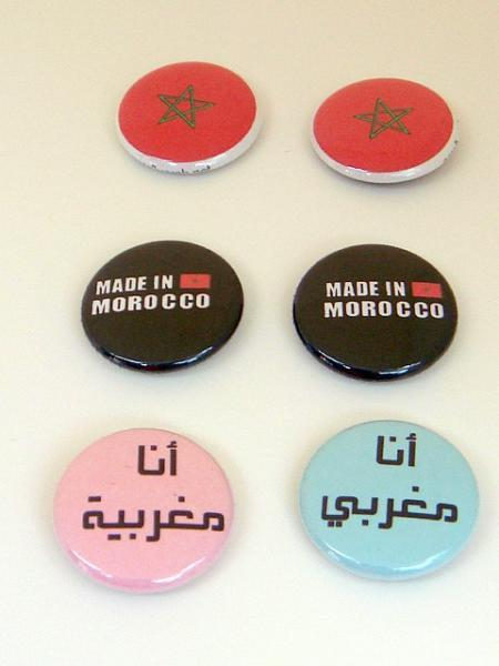 *Proud Moroccan* Six 1 inch Button Pins