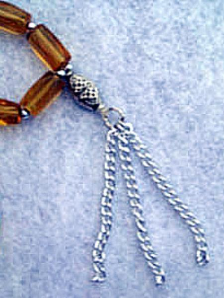 Gold Islamic Subha سبحة or Misbaha مسبحة (Prayer Beads)