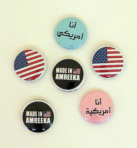 Amreekan Proud Set - Six 1 inch Pinback Buttons