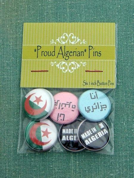 *Proud Algerian* Six 1 inch Button Pins