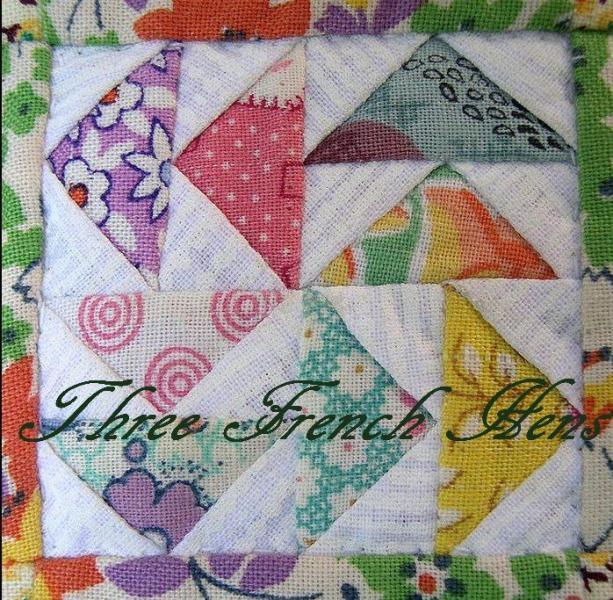 Three Classic Handkerchief Squares For Her Eco Friendly Peach Blossom Cotton