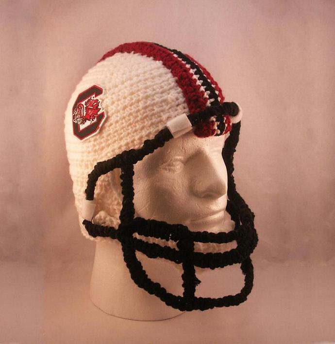 Football Helmet With Chin Strap And Facemask By Manicmilliner On