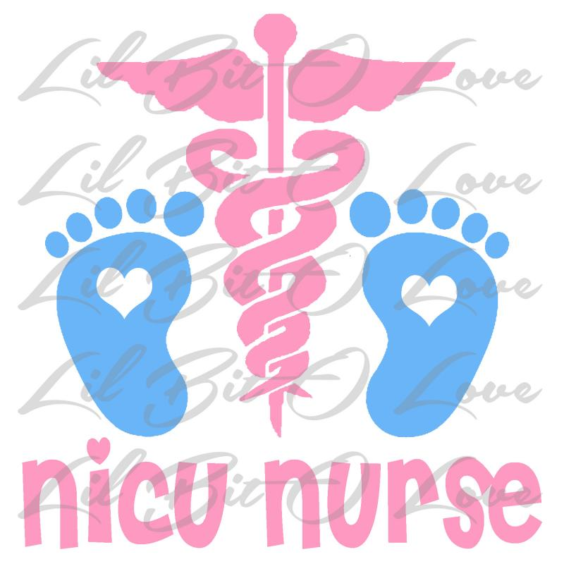 Neonatal Nicu Nurse Vinyl Decal Sticker By Lilbitolove On Zibbet