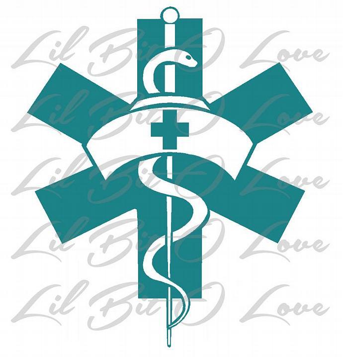 Star Of Life And Nurse Cap Nurse Symbols Vinyl By Lilbitolove On