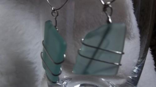 Seaglass Wirewrapped Earrings