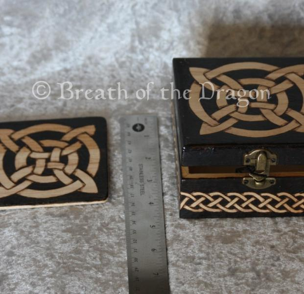 Celtic Wooden Coaster Set w/ matching Box