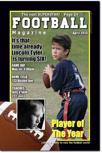 Football Super Bowl Invitations (download jpg immediately)