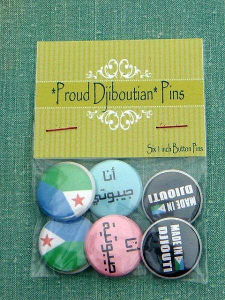 *Proud Dijoutian* Six 1 inch Button Pins