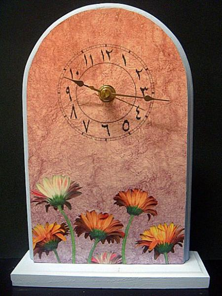 Floral Standing Arabic Clock