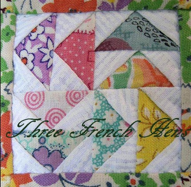 Grandmothers Flower Garden Vintage YoYo Quilt Blocks