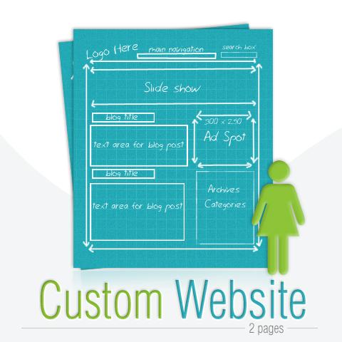 Custom Website Design - 2 pages