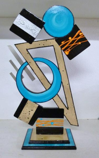 "New Abstract Table top Sculpture ""Tango"" Contemporary,Modern,Geometric design"