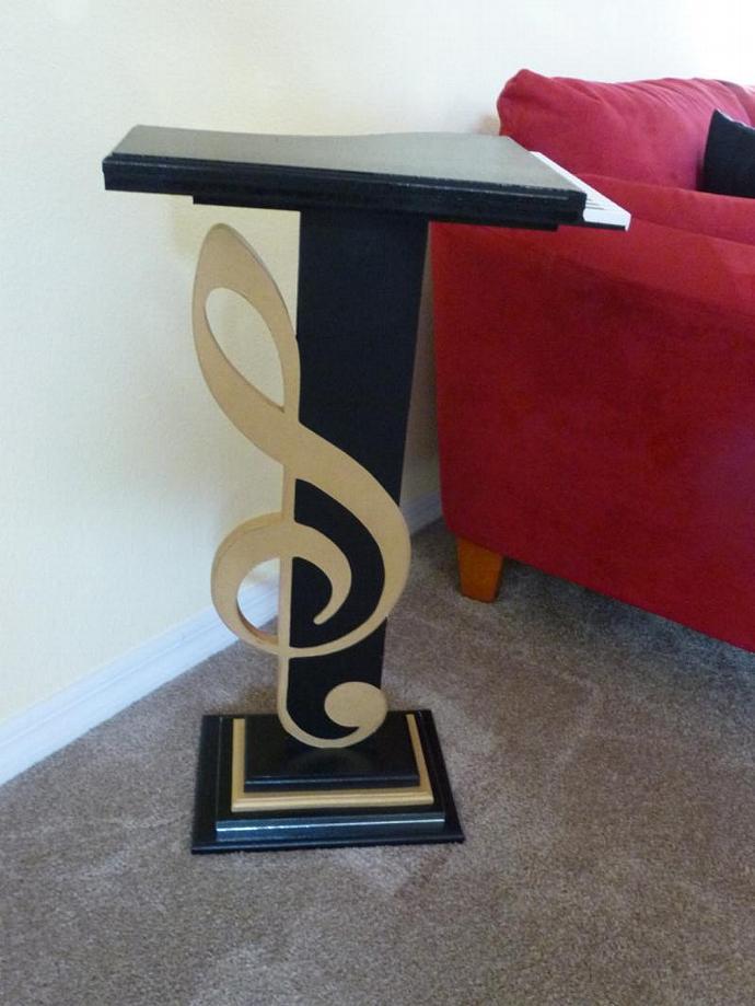 NEW Original & Unique Design -Music Piano G Clef Accent Table Floor Sculpture
