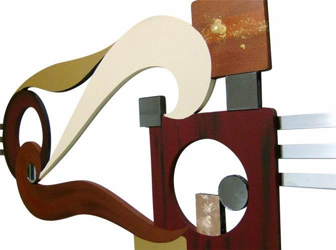 "Stylish Contemporary Modern Abstract Art Wall Sculpture ""Avalon"" 48x20"