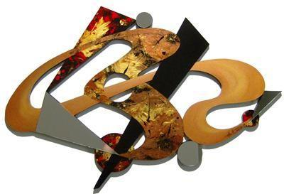 LARGE Stylish Contemporary Designer Abstract Wall Sculpture Mirror, Wall Decor