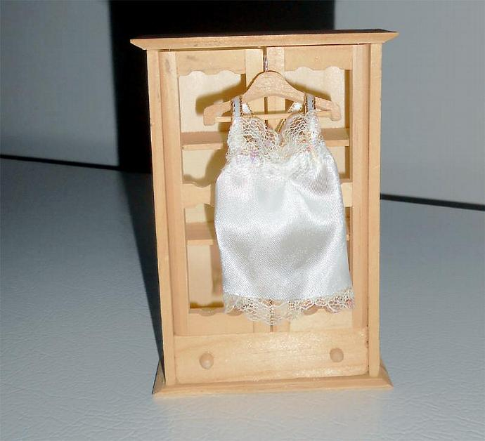 Ivory Satin Gown in One Inch Dollhouse Scale