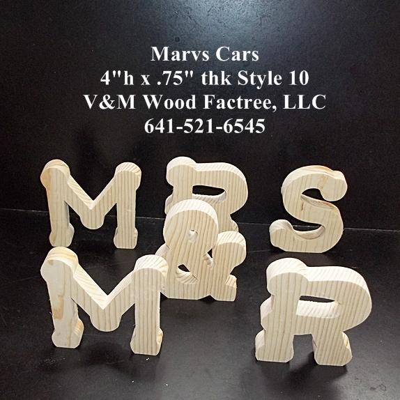 Mr Mrs Wedding Reception Stand Alone Wood Letters Unfinished Style 10 Stk No M 10 75 4 Sa