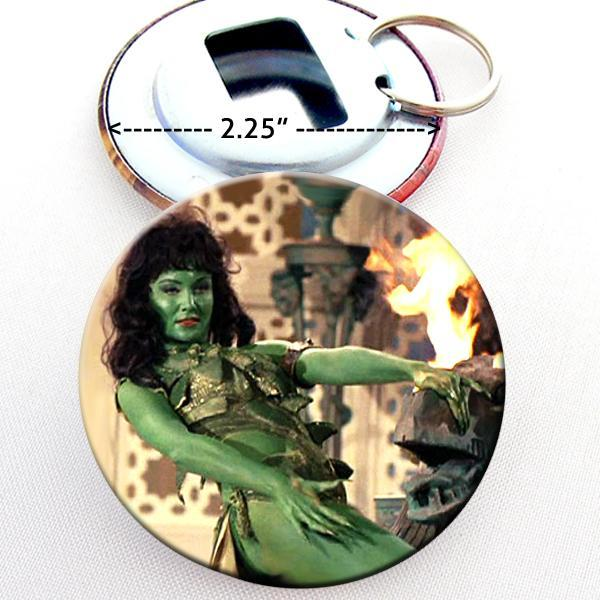 Bottle Opener Split Key Ring 2.25 Inch Green Orion Slave Woman Star Trek TOS