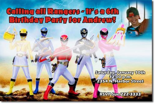 Power Rangers MegaForce Birthday Party Invitations (Download JPG Immediately)