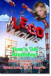 Lego Movie Birthday Invitations (Download JPG Immediately)