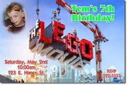 Lego Movie Birthday Invitations (Download JPG Immediately)
