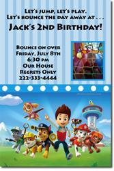 Paw Patrol Birthday Invitations (Download JPG Immediately)