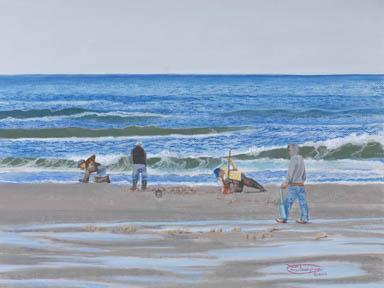 """""""A Good Day For Clamming"""" Giclee Paper Print by Carol Thompson"""